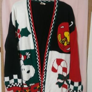BUTTON UP CHRISTMAS SWEATER